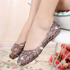 Fashion Womens Casual Shoes Girl's Clear Glitter Summer Jelly Flat Sandal Shoes