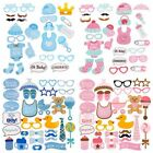 1st First Birthday Baby Shower Bottle Mask Photo Booth Props Party Decor Newborn