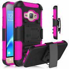 Rugged Armor Hybrid Impact Hard Cover Belt Clip Holster Stand Case For Cellphone