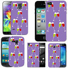 pattern case for many Mobile phones - violet red white wine