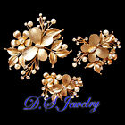 Clear Swarovski Crystal Rhinestones Carved Butterfly Hair Clip Set