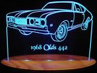 "1968 Oldsmobile 442 Olds Lighted Led Sign 11-13"" Plaque 6..."