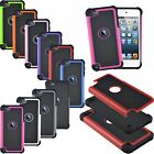 Shockproof Rubber Hybrid Impact Silicone Cover Case for iPod Touch 5th 6th Gen