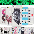 Clear Soft TPU Rubber Ultraslim Bumper Case Protective Cover Skin Fashion Design