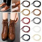 HA 1 Pair 60-140cm 4mm Round Cotton Waxed Cord Leather Oxford Shoe Lace 7 Colour