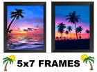 💗 Tropical Palm Trees Pictures 5x7 Beach Sunset Wall Hangings Nature Home Decor