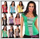 Women's Top Summer Ladies T-Shirt Casual Blouse with Bolero One Size 8,10,12,14