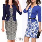 Lady Business Suit Bodycon Pencil Dress Long Sleeve Knee-Length Fashion Dresses
