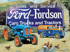 FORD FORDSON FARM TRACTOR TRUCKS CARS METAL PLAQUE SIGN VINTAGE NOSTALGIC 310
