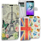 Printed Flip Cover Leather Wallet Case for Samsung Galaxy A3 2017 + Tall Stylus