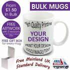 Personalised Custom Photo Mug Cup Gift Image Text Wholesale Bulk Promotional Lot