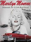 MARILYN MONROE DIAMONDS ARE A GIRLS BEST FRIEND SIGN METAL PLAQUE NOSTALGIC 454