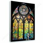 Stained Glass Window Church Cathedral by Banksy | Ready to hang canvas | Wall