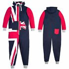 Mens Printed Union Jack Onesie - Plus Sizes Available
