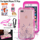Waterproof Shockproof Hybrid Protective Rubber Case Full Cover F iPhone 8/7 Plus