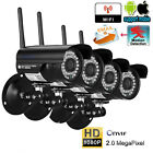 1X2X/4X Outdoor HD 1080P FUNK Wireless Wlan WIFI IP Kamera Überwachungskamera DE