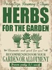 HERBS FOR THE GARDEN SAGE PARSLEY ROSEMARY GREENHOUSE TIN SIGN METAL PLAQUE 789