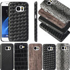 Hybrid Ultra Slim PU Leather Matte Hard Case Cover Shockproof for Samsung &Apple