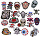 Punk Skull Head Applique Embroidered Patches for Clothing Shoes Iron On Patch
