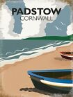 PADSTOW CORNWALL SEASIDE HOLIDAY SURFER VINTAGE STYLE TIN SIGN METAL PLAQUE 950