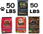 50 LBS Ol' Roy Dog Food 2 Flavors Pet Dry Complete Nutrition Or Bacon Flavor