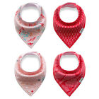 2017 4Pcs Infant Baby Unisex Bibs Feeding Saliva Towel Dribble Triangle Bandana
