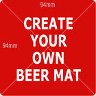 Personalised Beer Mats with images, messages, Personalised DOUBLE Side Mats -E22