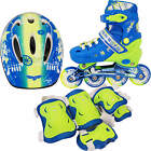Light Up Kids Adjustable Roller Blades Inline Skates Size 13J-3 4-6 COMPLETE SET
