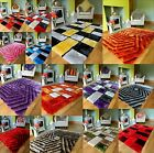 NEW BRIGHT MODERN SILKY SOFT THICK HEAVY COLORFUL LIVING AREA DINING RUG MATS