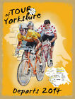 TOUR OF YORKSHIRE STAGES BICYCLE CYCLE RACE METAL PLAQUE TOUR DE FRANCE 1038