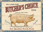 BUTCHER'S CHOICE CUTS OF PORK CHART BACON SAUSAGES PIG METAL SIGN PLAQUE 1196