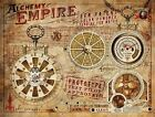 ALCHEMY EMPIRE ERR PATENT STEAMPUNK TIN SIGN METAL PLAQUE OTHERS ARE LISTED 1093