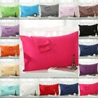 New 2PCS Solid Pillow Cases 100% Egyptian Cotton In All Size Color Winter Sales