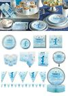 Blue Twinkle Twinkle Decor Tableware One Little Star 1st Birthday Party Supplies