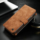 Leather Wallet Stand Case Removable Flip Cover Purse For iPhone 7Plus Sumsung S7