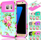 For Samsung Galaxy S7 Slim Hybrid Rubber Armor Orchid Shockproof Hard Case Cover