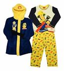 Fireman Sam Nightwear Bundle - Pjs Pyjamas And Dressing Gown Robe New