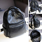 Women's Small Real Leather Backpack Rucksack Daypack Purse Cute bag Studded