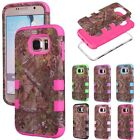 Hybrid Shockproof Heavy Duty Camo Case Cover For Samsung Galaxy S6 / S6 Edge