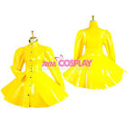 lockable french sissy maid  PVC vinyl  dress  cosplay CD/TV  Tailor-made[G1546]