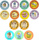 48 stickers for food allergies / allergens - nut, dairy, gluten, eggs, wheat etc