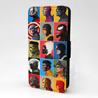 Marvel Collage Flip Case Cover For Phone - S-T2847
