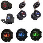 car amp testing - Motorcycle Car Dual USB Led Charger Voltmeter Switch Style Volt Amp Test Guage
