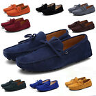 US 7-12 Men Loafers Driving Moccasins Casual Soft Suede Leather Penny Shoes