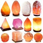Himalayan Natural Salt Lamp Pink Rock Crystal Salt Night Desk Lamp UK Bed Lamp