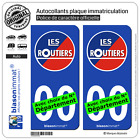 2 Stickers autocollant plaque immatriculation Auto : Les Routiers