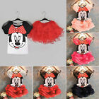 Baby Girl Kids Minnie Mouse Costume Fancy Outfit Set Ballet Shirt + Tutu Dresses
