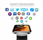 DM98 Bluetooth Smart Watch WIFI GPS GSM 3G Camera Phone Mate Heart Rate Monitor