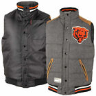 Chicago Bears Gray Legacy Full Snap Vest  By G-III