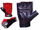 EVO Fitness Pure Leather Gym Gloves Gel Padded Weightlifting Cycling wheelchair